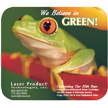 "8"" x 9-1/2"" x 1/8"" Recycled Soft Mouse Pad"