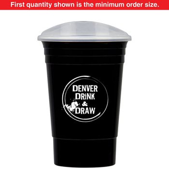 16 oz Party Cup with Lid