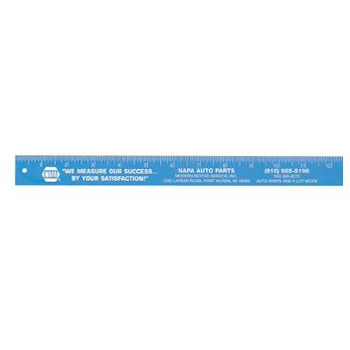 "12"" Plus Plastic Ruler"